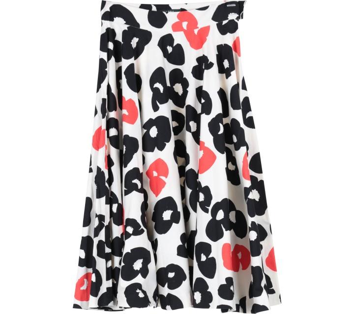 Jaspal Multi Colour Floral Midi Skirt