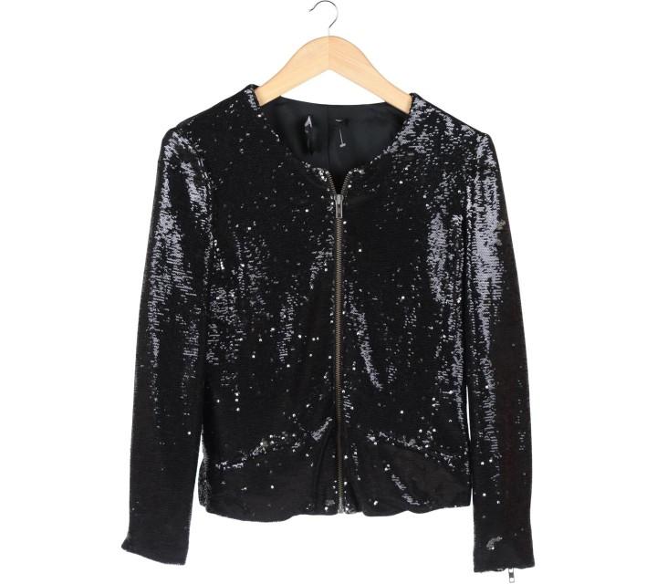 Mango Black Sequin Jacket