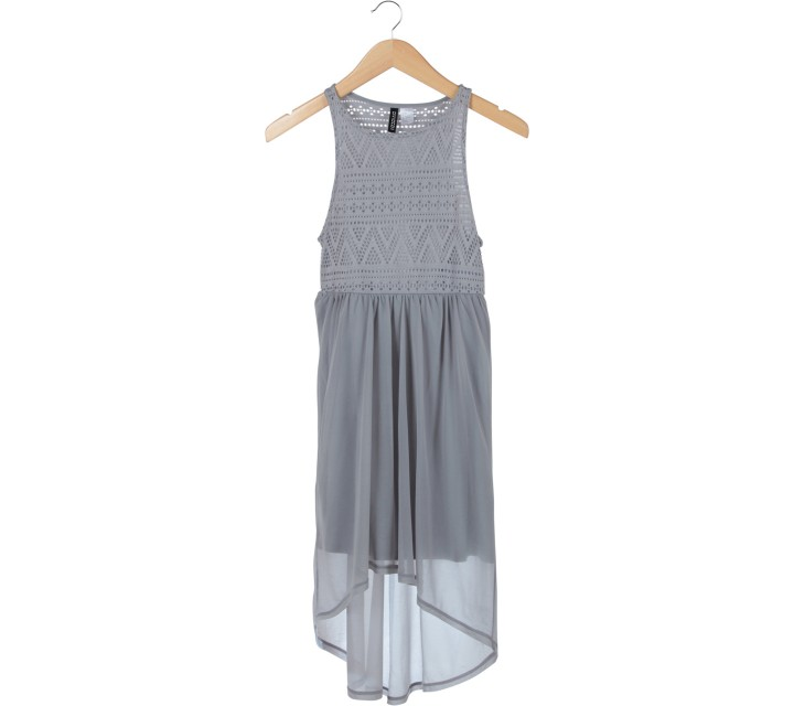 Divided Grey Mini Dress