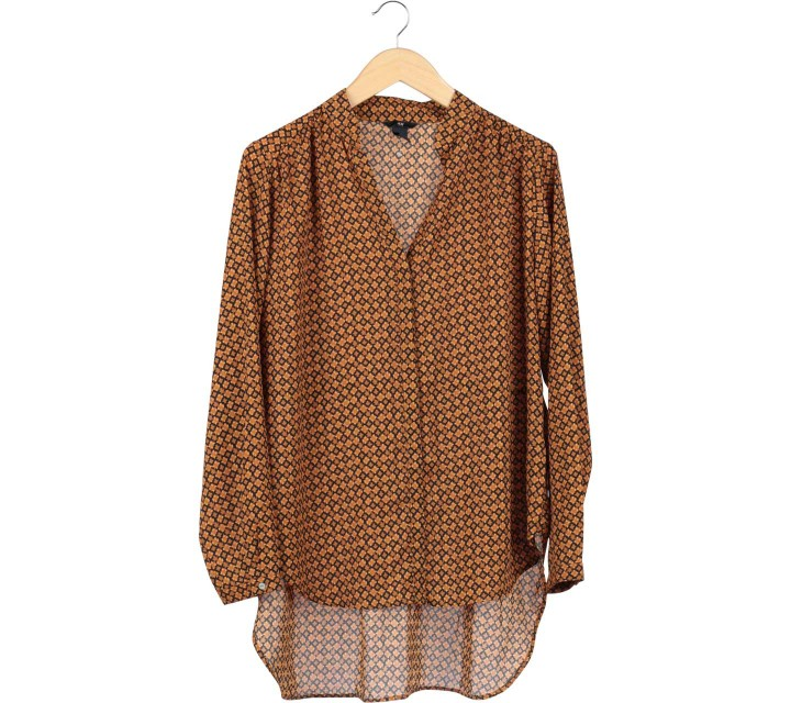 H&M Brown Asymetric Blouse