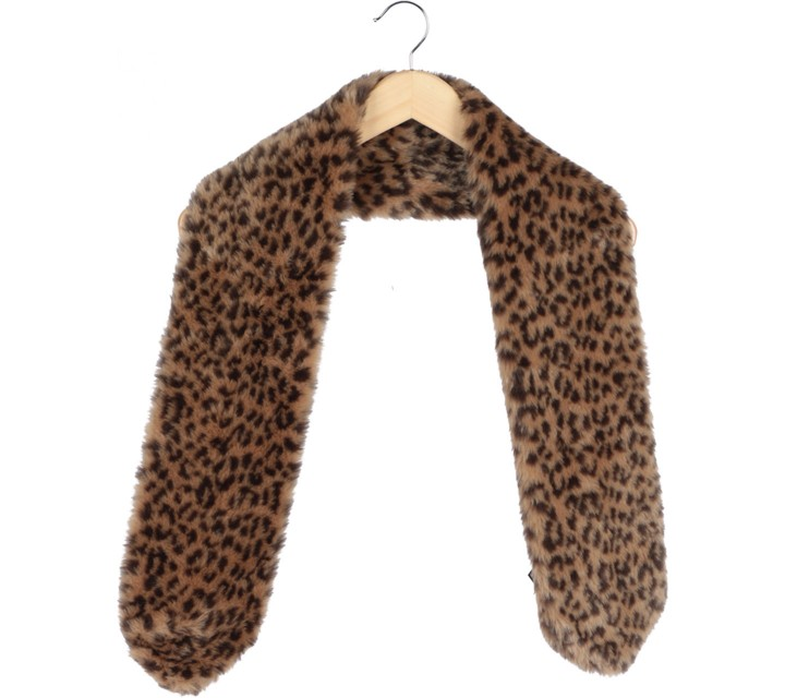 H&M Brown Leopard Furry Scarf