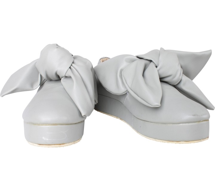 Grey Skipped Mid Sneakers