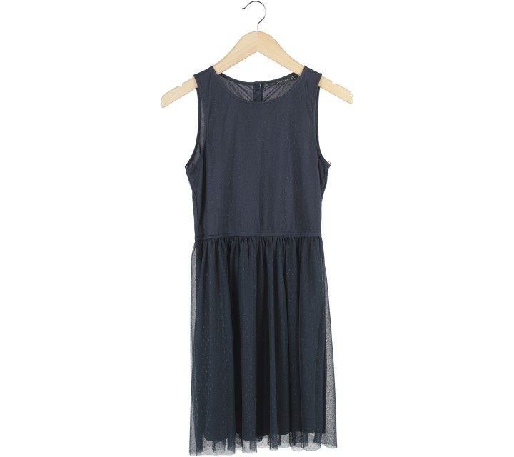 Zara Dark Blue Sleeveless Mini Dress