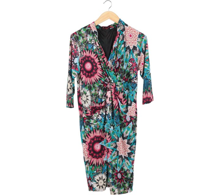 Multi Colour Midi Dress