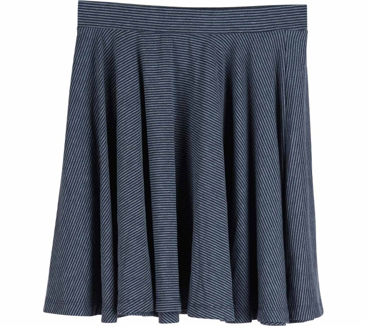 UNIQLO Grey Striped Skirt