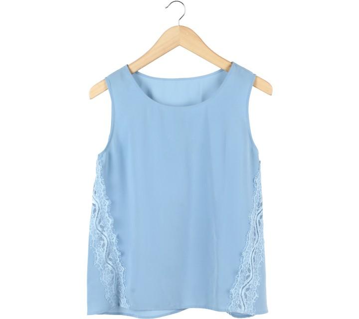 UNIQLO Blue Lace Insert Sleeveless