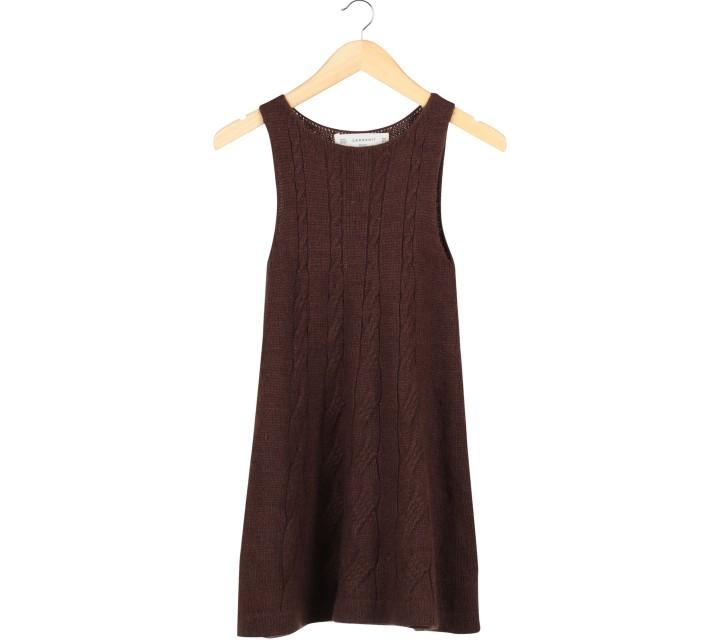 Zara Brown Knit Mini Dress