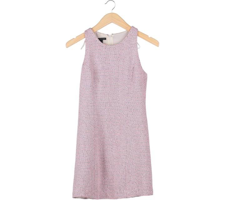 Mango Pink And Cream Sleeveless Mini Dress