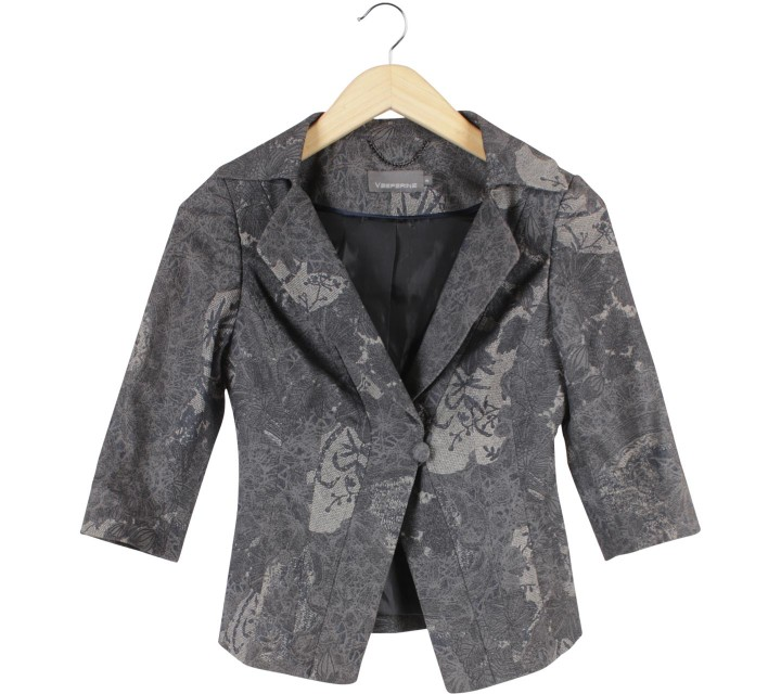 Vesperine Grey Patterned Blazer