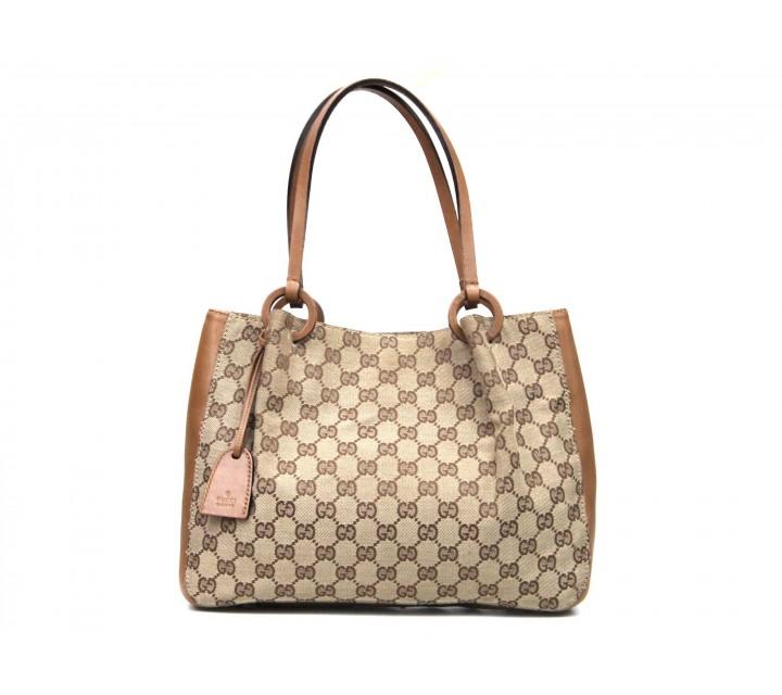 Gucci Brown Monogram Tote Bag