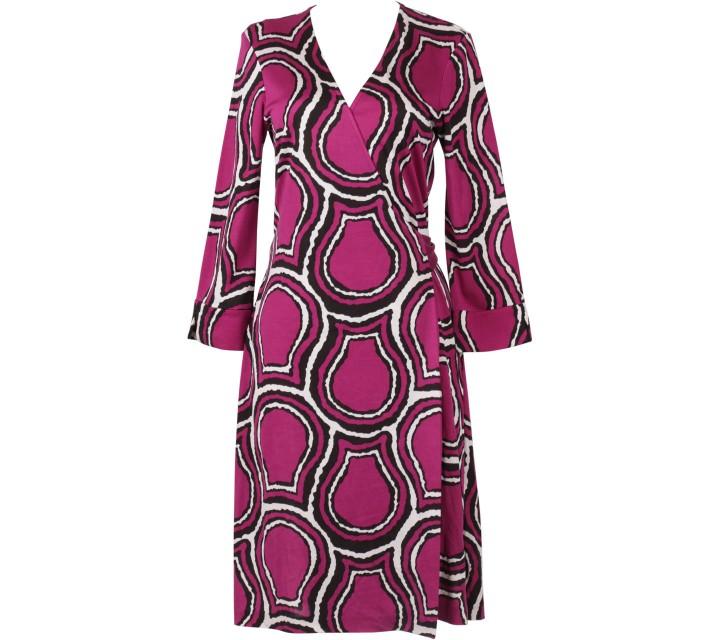 Diane Von Furstenberg Purple Wrap Mini Dress