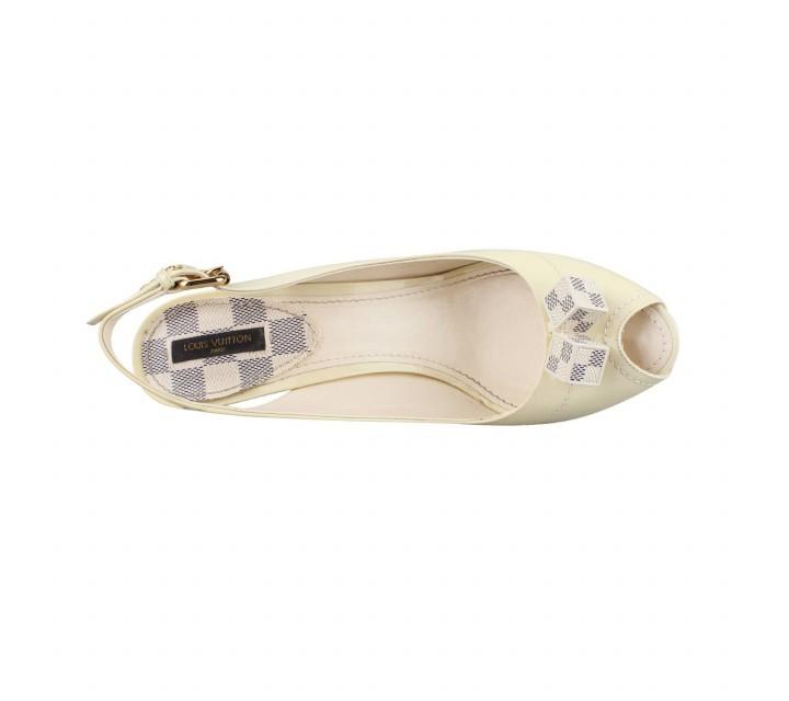 Louis Vuitton White Heels