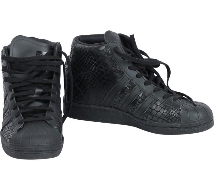 Adidas Black Superstar UP Wedges Sneakers