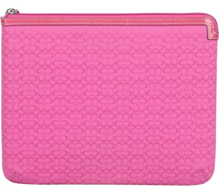 Coach Pink Monogram Ipad case Pouch