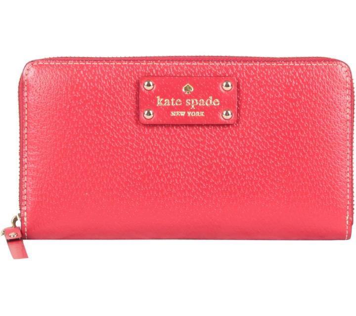 Kate Spade Red Neda Wellesley Garnet Wallet