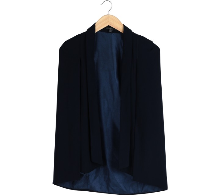 Lookboutiquestore Dark Blue Cape Outerwear