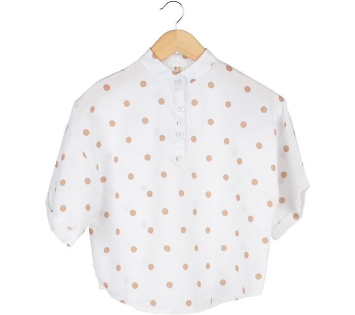 White Polka Dot Blouse
