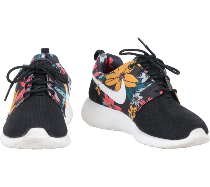 Nike Black Floral Roshe Run One Aloha Print Hawaii Sneakers