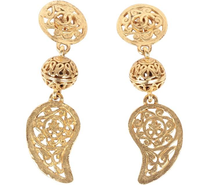 Chanel Gold Earring Jewellery