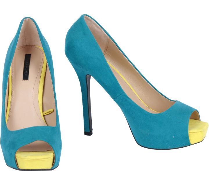 Zara Tosca Open Toe Heels