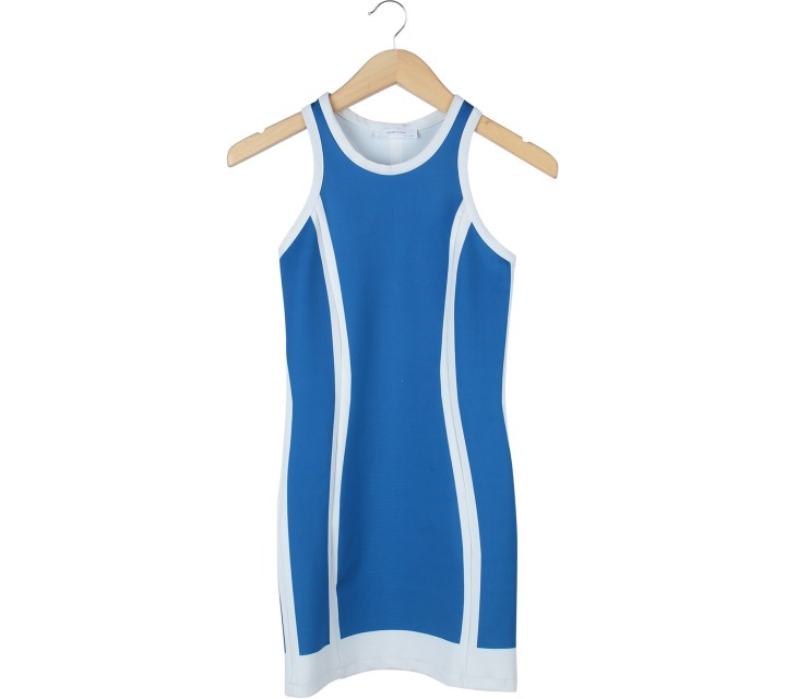Zara Blue And White Mini Dress