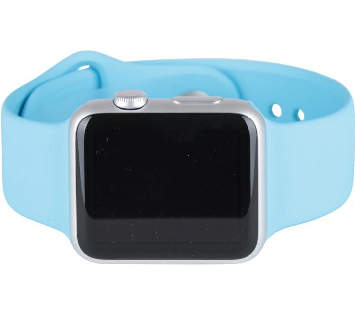 Apple Blue 42mm Silver Aluminum Case Sport Watch