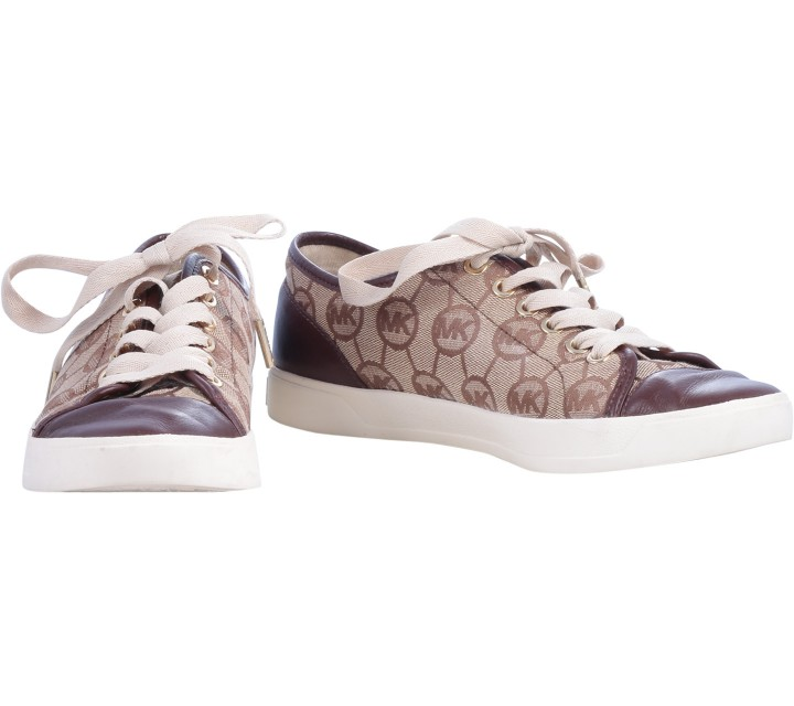 Michael Kors Brown Monogram Sneakers