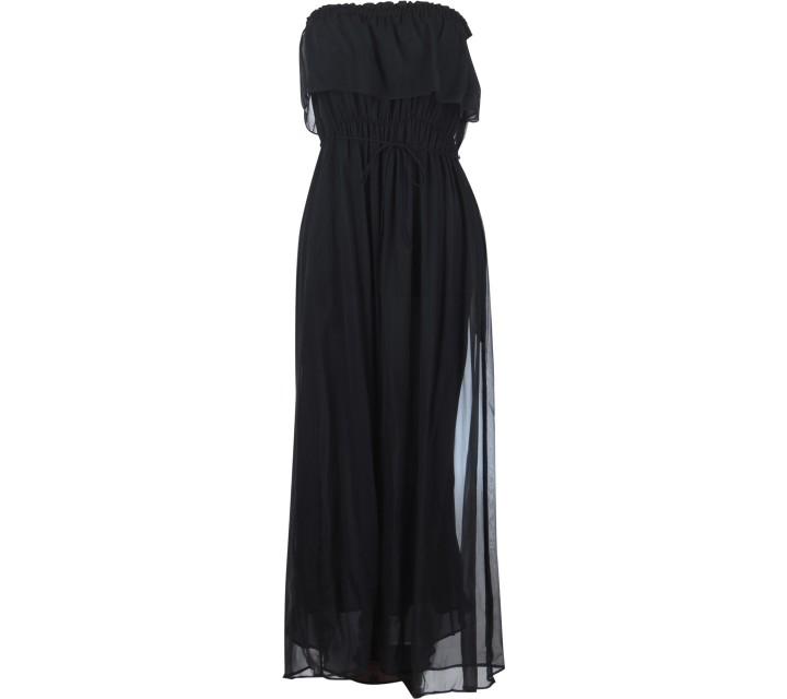 Mango Black Tube  Long Dress
