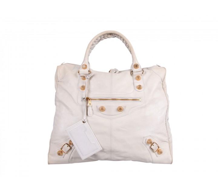 Balenciaga White Shoulder Bag