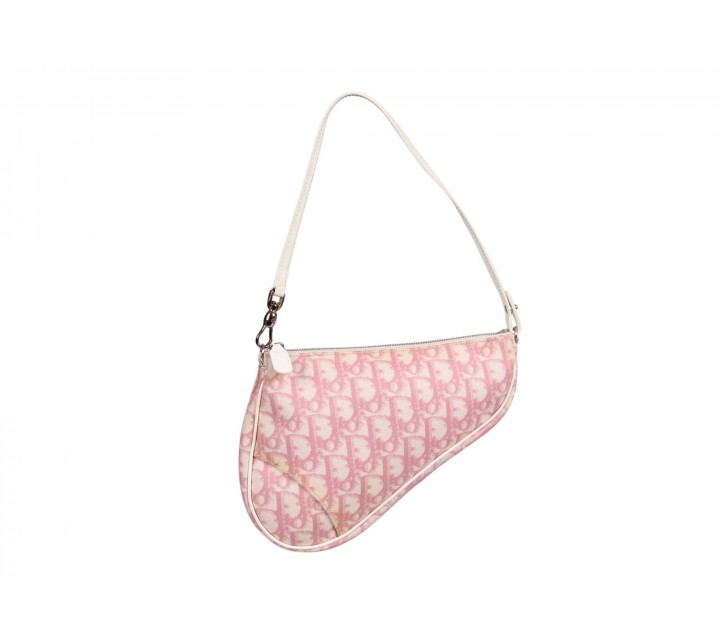 Christian Dior Pink Monogram Mini Saddle Tote Bag