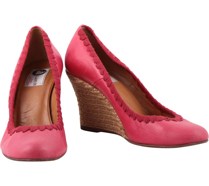 Lanvin Pink And Cream Wedges