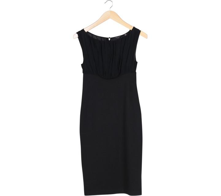 Ted Baker Black Sleeveless Combi Midi Dress