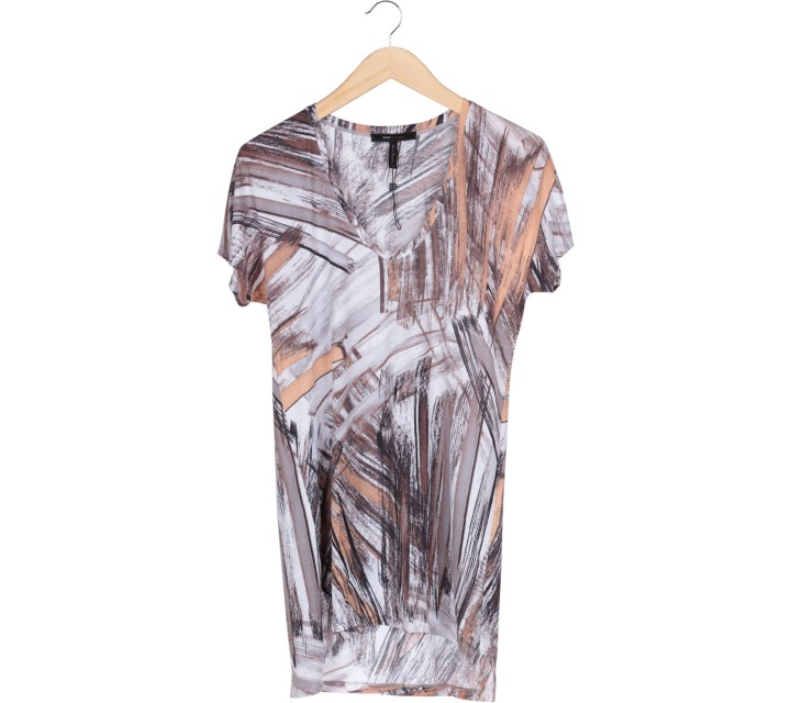 BCBG Multi Colour Abstract T-Shirt