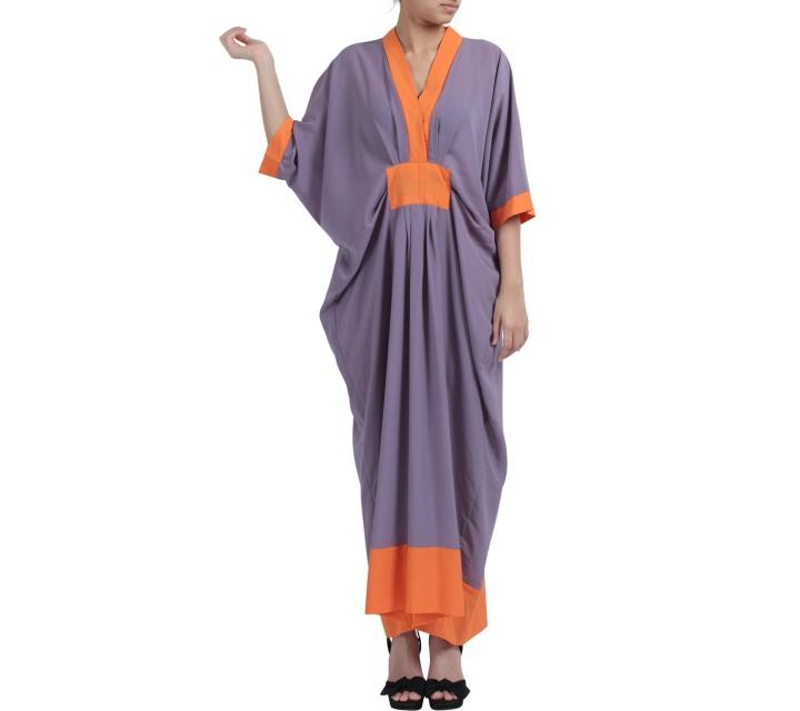 Purple and Orange Kaftan