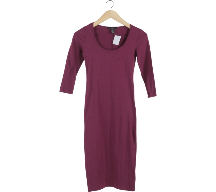 Forever 21 Purple Midi Dress