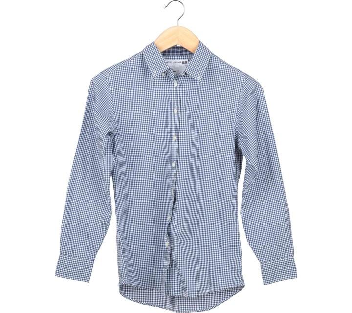 UNIQLO  Blue Plaid Shirt