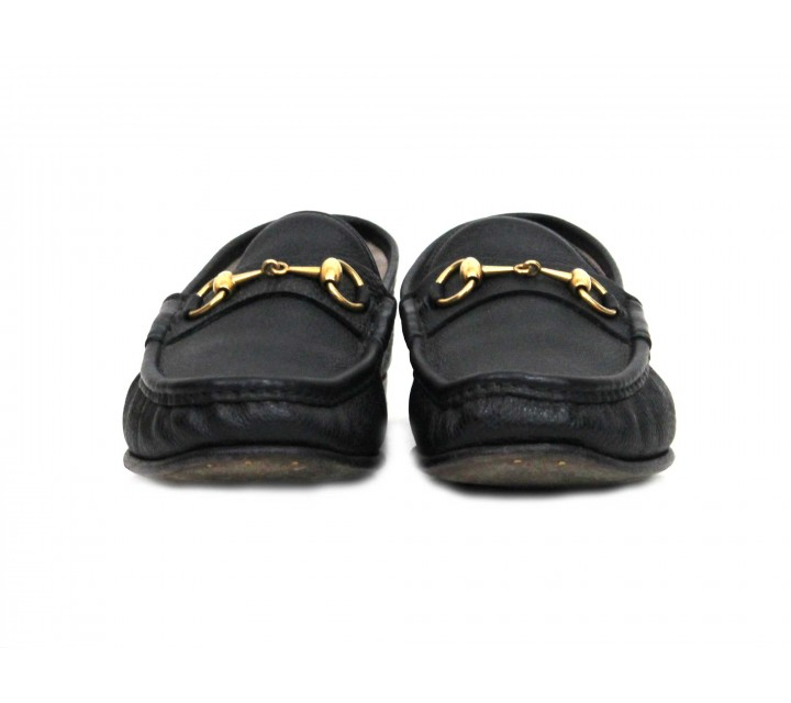 Gucci Black Kenya Leather Loafer Flats