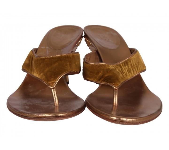 Gucci Gold Sandals