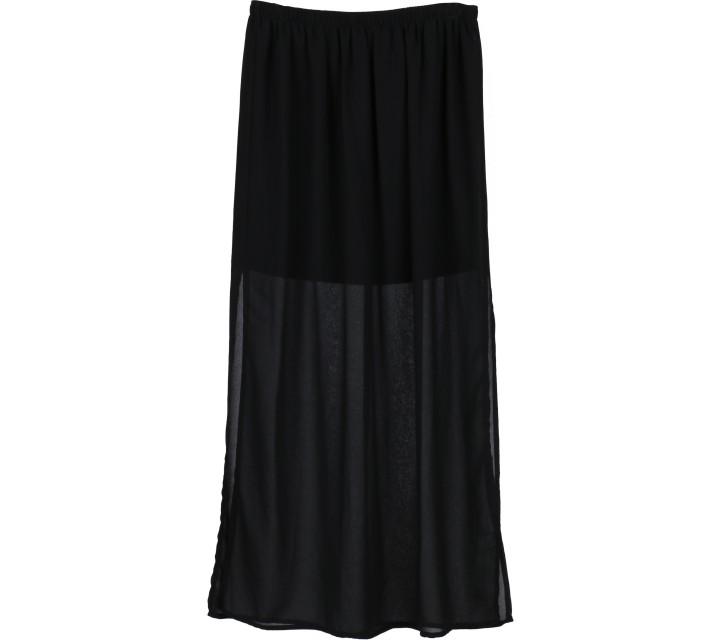 Forever 21 Black Sheer Insert Skirt