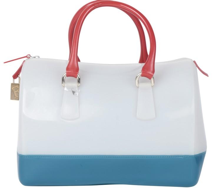 Furla Multi Colour Tricolor Candy Jelly Handbag