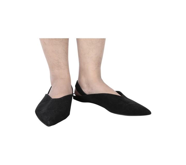 Zara Black Pointed Sandals
