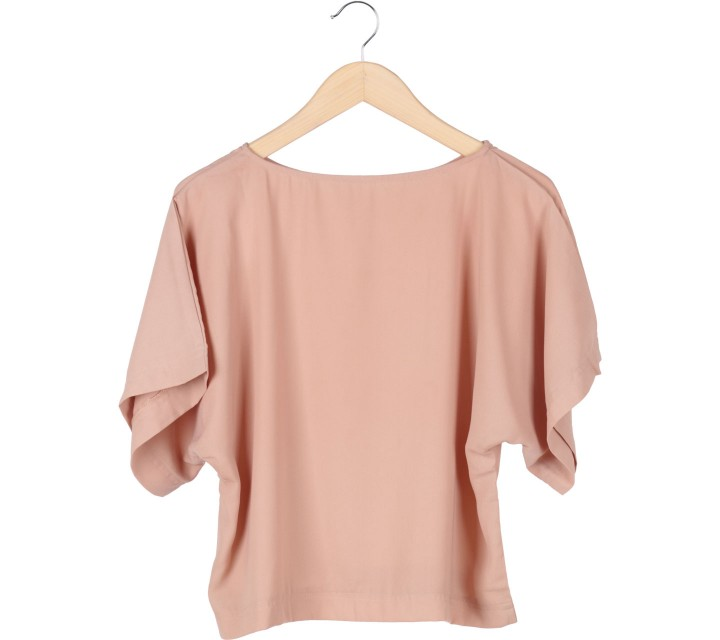 Tinkerlust Cream Boxy Crew Neck Blouse