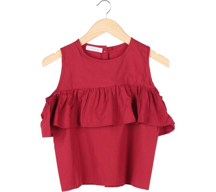 Tinkerlust Red Off Shoulder Blouse