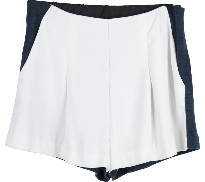White And Dark Blue Shorts Pants