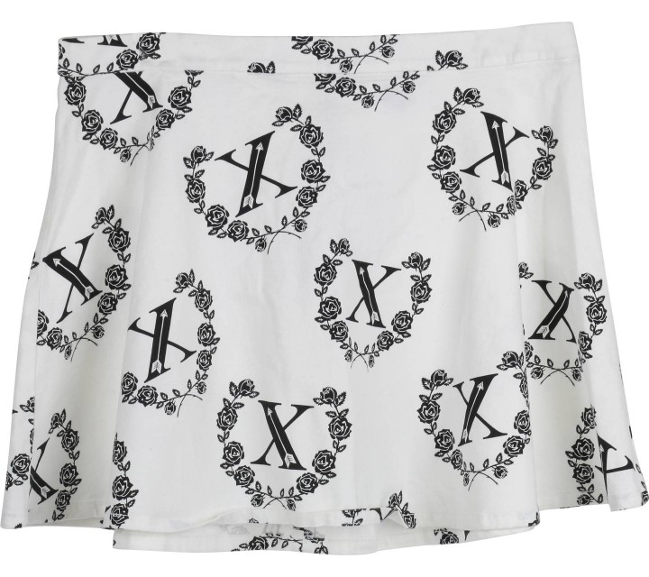 Divided White Floral Skirt