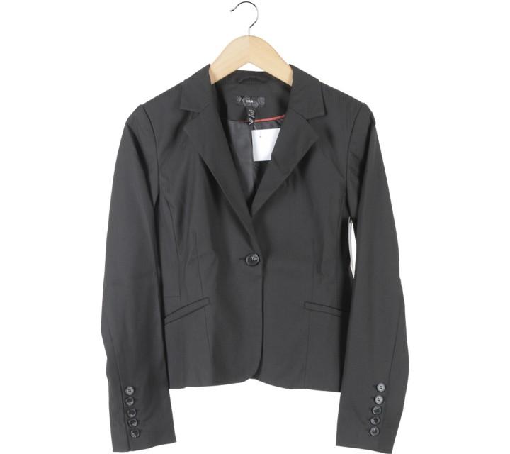 H&M Black Striped Blazer