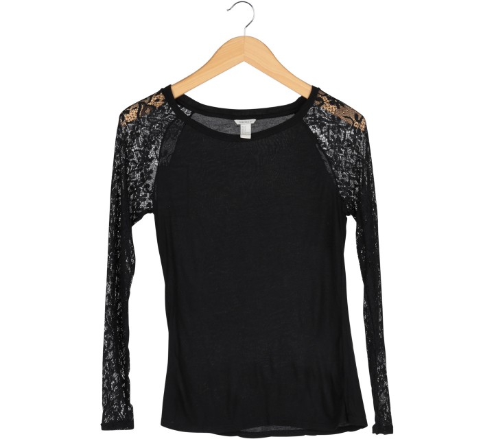 Forever 21 Black Lace T-Shirt