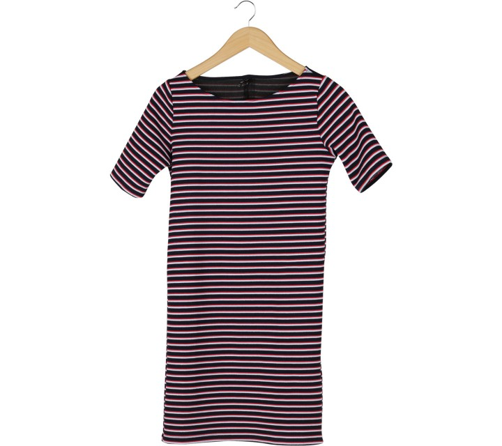 Stradivarius Multi Colour Striped Mini Dress