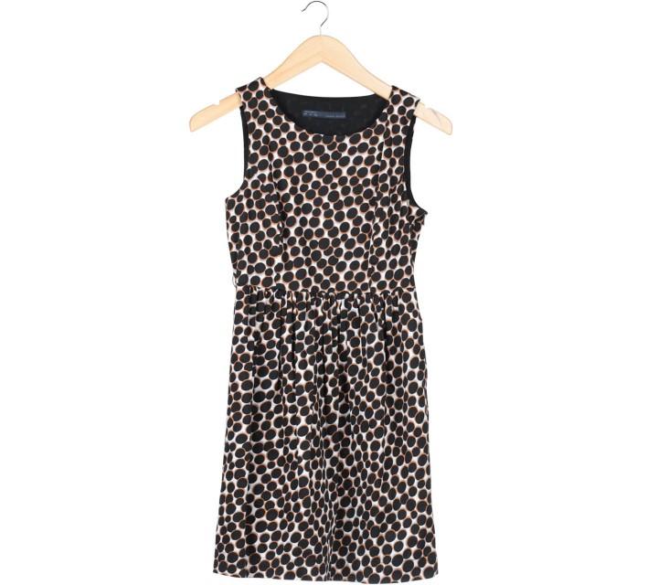Zara Multi Colour Polka Dot Sleeveless Mini Dress