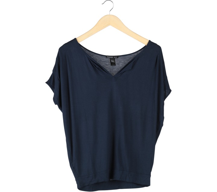 Mango Dark Blue Blouse